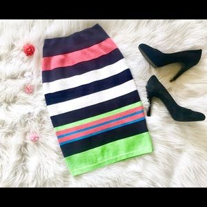 Lilly Pulitzer small striped bodycon pencil skirt